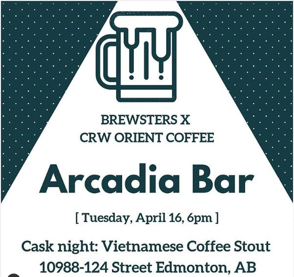 BrewstersXCRW at Arcadia Bar - Coffee Stout!