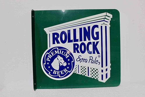 Tôle publicitaire double face Rolling Rock Extra Pale