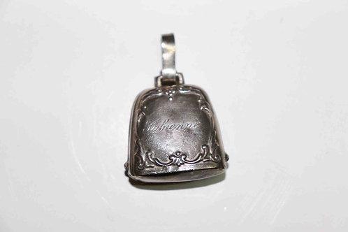 Petite cloche de naissance en argent Webster Sterling période 1930-1950