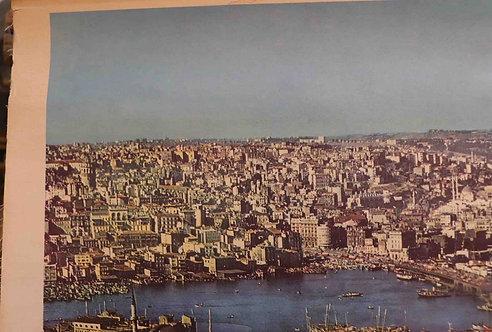 Carte scolaire didactique Vue d'Istanbul Turquie