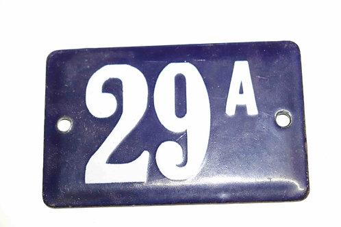 Numéro de maison ancienne plaquette émaillée n°29 A