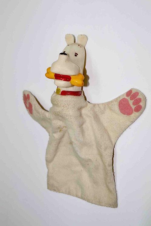 Marionnette Milou années 60  pour le théâtre de  Tintin