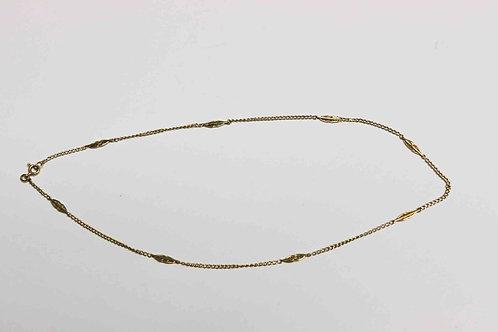 Chaîne ras de cou or jaune 18 carats - 3,8 gr - 38,5 cm