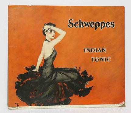 Glaçoïde carton Schweppes Indian Tonic