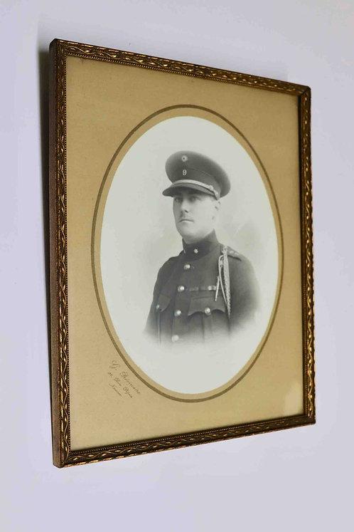 Photographie d'un militaire - grade adjudant - mars 1928 - rue Pépin Namur