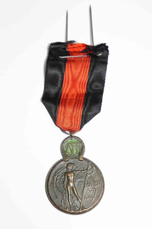 Médaille de l'Yser  - 17-31 oct. 1914 - bronze