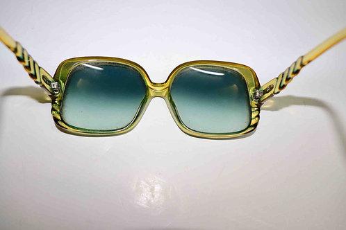 Lunettes solaires vintage Christian Dior Optyl bleu vert d'occasion