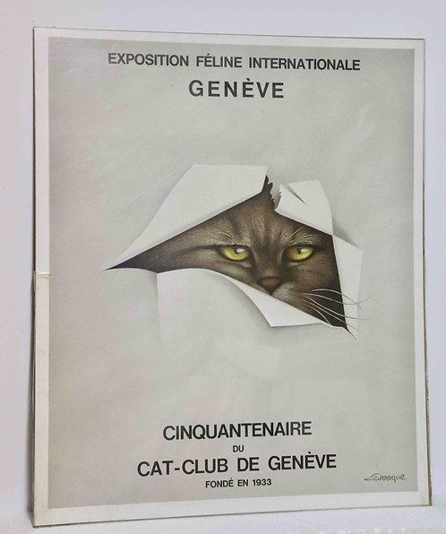 Affiche exposition féline Genève 1983