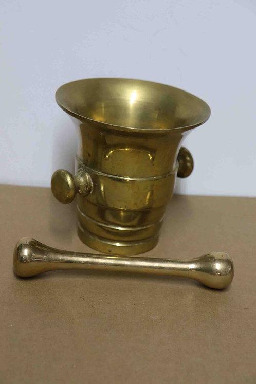 Pilon et mortier bronze XXème
