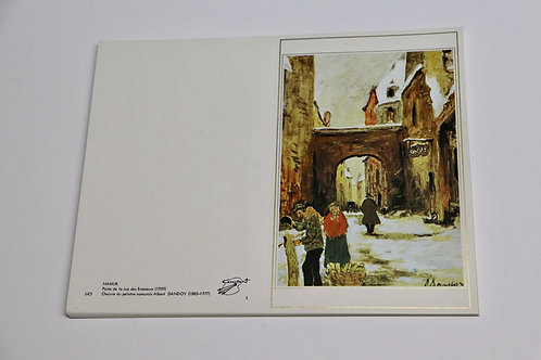 Carte postale double Albert Dandoy Namur