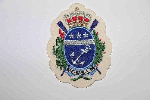 Badge en tissu brodé du Royal Club Nautique Sambre & Meuse