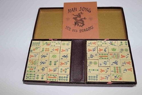Mah Jong jeu des dragons JLR Paris bois et carton années 60