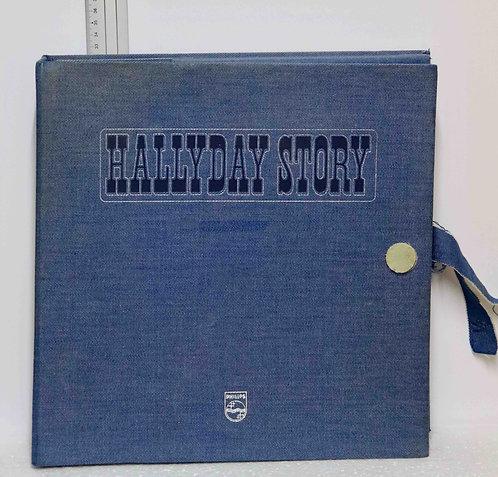 Coffret en jeans vinyles Hallyday Story 1961-1974