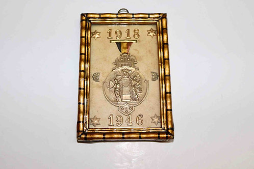 Paire de médailles commémoratives 1907-1950 et 1918-1946 LaRoyale Namur