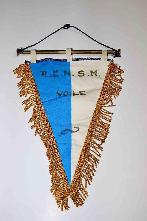 Ancien fanion tissu et laiton Royal Club Nautique Sambre et Meuse