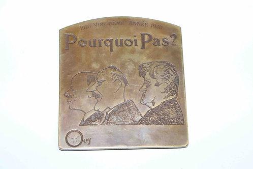 """Médaille bronze commémorative 20 ans du magazine """"Pourquoi Pas"""""""