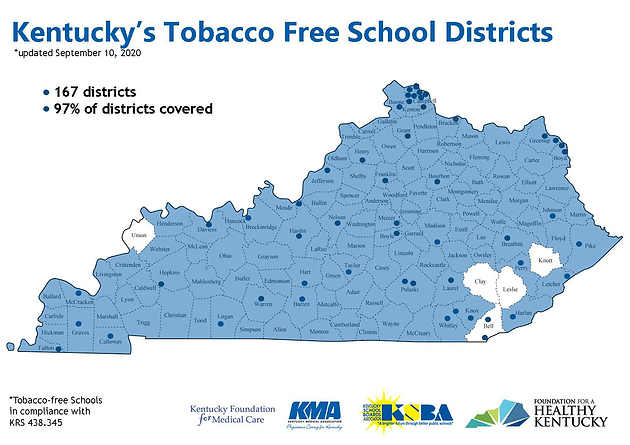 HB11 Kentucky Tobacco Free Schools Map 9