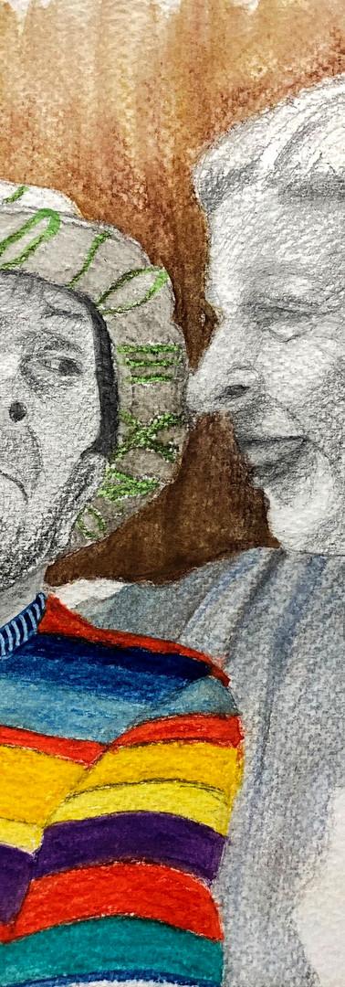 Graphite et c.c. aquarellables