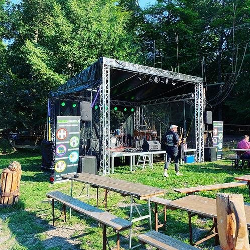 Bühnendach mit Spielfläche 24m²