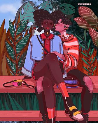 Kiss Club Print
