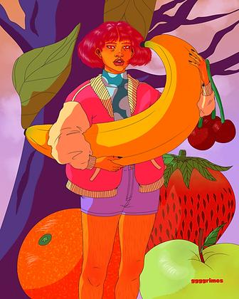 Banana Babe Print