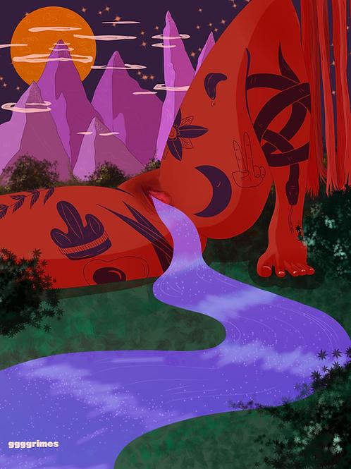 Sacred River Print
