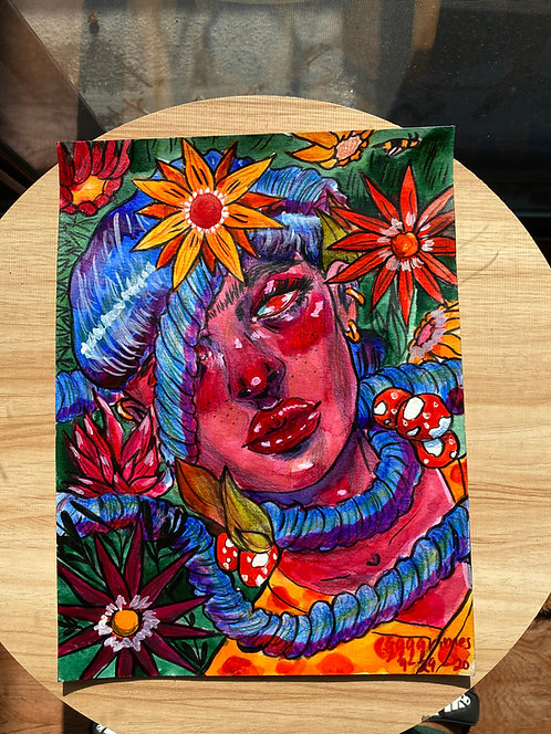 Vine 9x12 inch Original Watercolor Painting