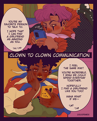 Clown to Clown Communication Print