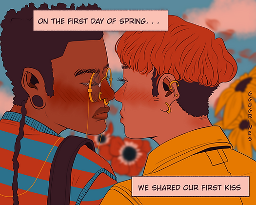On the first day of spring Print