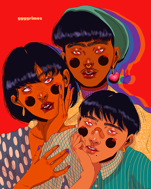 Siblings Print