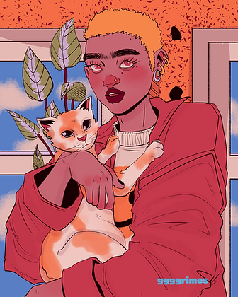 Dykes with Cats 1 Print