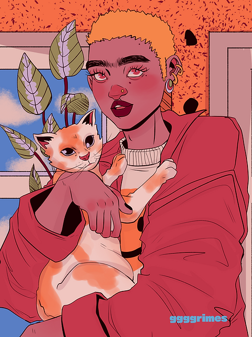 Dykes with Cats Print