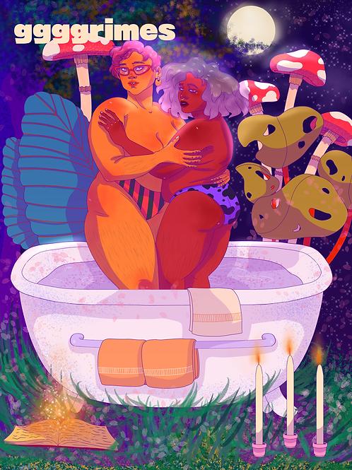 Bathrub Print