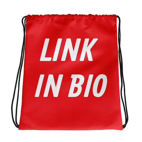 LINK IN BIO Drawstring bag