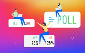 An Instagram poll sticker.