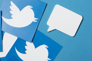 Twitter logos.