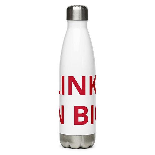 LINK IN BIO Stainless Steel Water Bottle