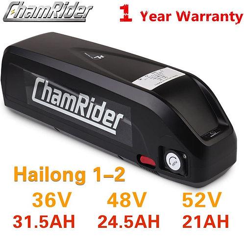 18650 48V Battery 52V Ebike Battery Hailong Downtube 20AH 30A 40A BMS 350W 500W