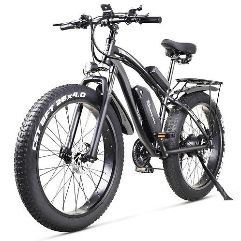 Electric Bike 1000W Electric Fat Bike Beach Bike Cruiser Electric Bicycle 48v17a