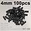 Thumbnail: 100/50Pcs Bike Bicycle Brake Gear Outer Cable End Caps Tips Crimps 4MM Plastic B