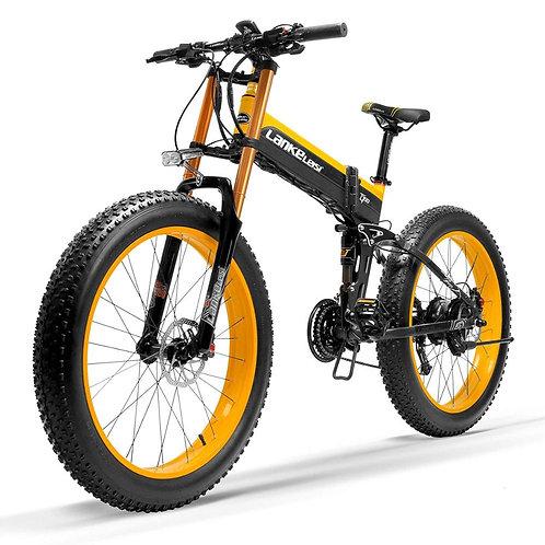 T750Plus Snow Bike 1000W Folding Electric Sand Bike, 48V High Performance Li-Ion