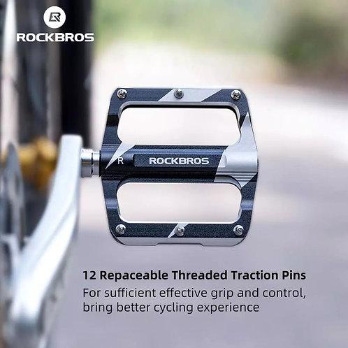 ROCKBROS 4 Bearings Bicycle Pedal Anti-Slip Ultralight CNC MTB Pedal Sealed Bea