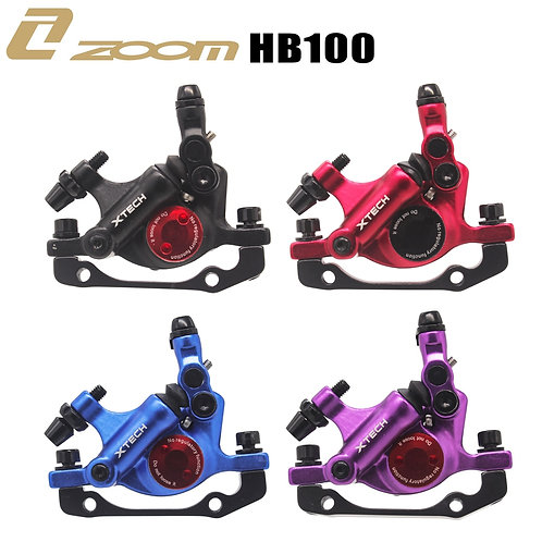 ZOOM XTECH HB100 MTB Line Pulling Hydraulic Disc Brake Calipers With Rotors 120/