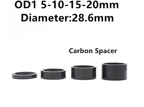 4PCS Full Carbon 28.6/31.8mm  Bicycle Carbon Spacer Hollow Ultra Light Headset P