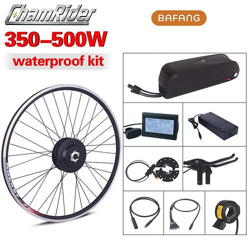 Waterproof Connector Plug BAFANG 500W 36V 48V 52V Ebike Conversion Kit SWX02 Mot
