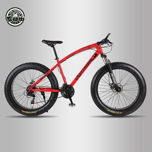 Love Freedom Top Quality Bike 7/21/24/27 Speed 26 * 4.0 Fat Bike Shock Absorb