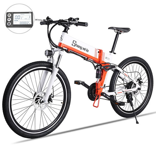 New Electric Bicycle 48V500W Assisted Mountain Bicycle Lithium Electric Bicycle