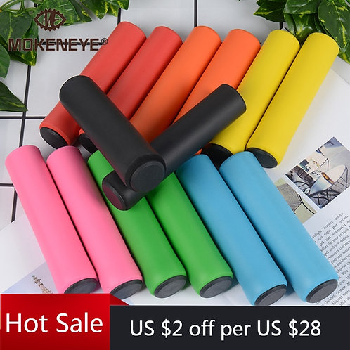1Pair Silicone Cycling Bicycle Grips Outdoor MTB Mountain Bike Handlebar Grips