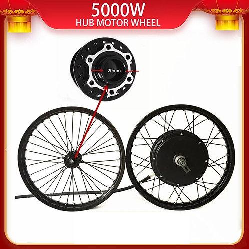 50H QS V3 48v-120v 5000w Electric Bike Hub Motor Wheel Kit Macthing With Front W