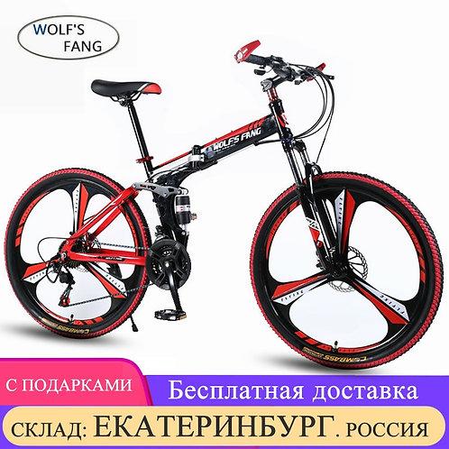 "Wolf's Fang Mountain Bike 21speed 26"" Inch Folding Bike Road Bike Unisex Full Sh"